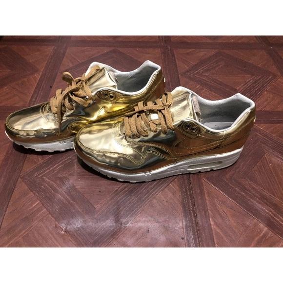 Nike Air Max 1 Premium ID Liquid Gold Mens
